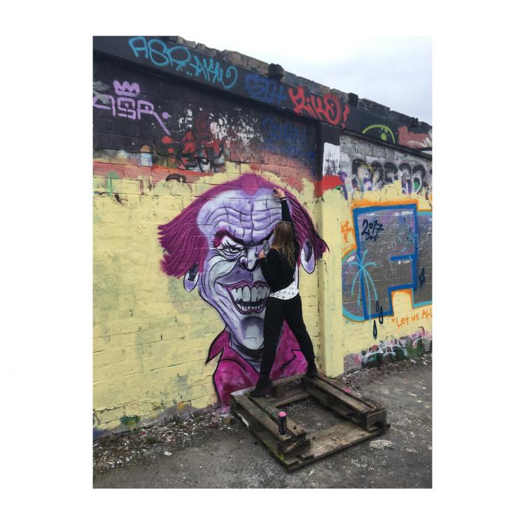 Janett Bräutigam; Herbart's Graffiti Session; Herbartgang; Oldenburg
